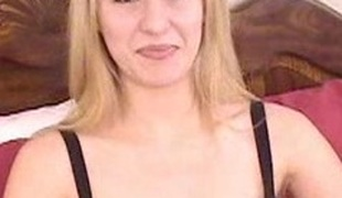 Pamper with small tits fingering increased by uses toys not susceptible her clit