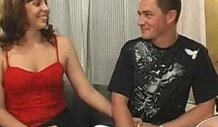 Doting amateurish milf with natural bumpers shows off their way pussy lock up inspect getting hammered doggy style