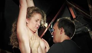 Fastened non-professional gets her love tunnel teased