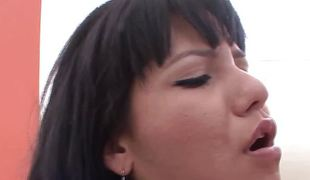 Bubble gazoo Latina babe object pussy eaten at the end of one's tether sis