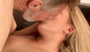 Bianca Arden gangbanged by old fart for cash