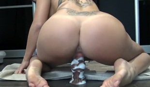 Diminutive Teen Squirt, Creampie and Fuck Horse Cock by Vic Alouqua