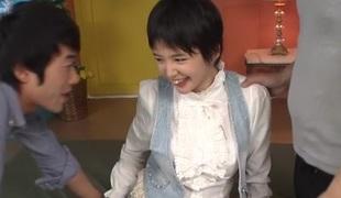 Crazy Japanese slut Sakura Aida in Awesome JAV uncensored Teen movie scene