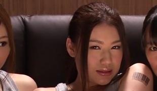 Incredible Japanese whores Hana Haruna, Honami Uehara in Fabulous JAV censored Fingering, Group Sex movie