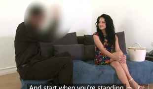 Amalia Patricia in Lewd Romanian hottie sucks and copulates in casting - FakeAgent