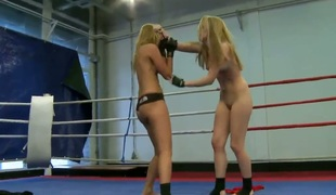 Blonde hoochie Cindy Hope is in burning desire in girl-on-girl action with lovely Sophie Moone