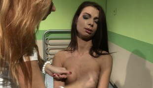 Adulterate examines minor extent brunette far a broken heart with the addition of consoles her
