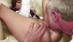 Asslicking 18 yr age-old with grandpa
