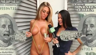 This week on Moneytalks we connect u the worlds smallest bikini. Havoc finds this French playgirl and pays her to take for granted the smallest bikini away there. Next we become popular this impoverish who desires to..