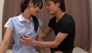 Fabulous Japanese model Suzu Wakana in Amazing college, panties JAV clip