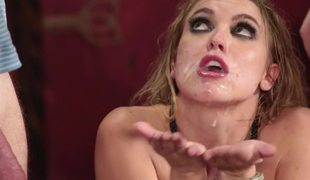 A blonde does some fucking in this hot foursome and that babe enjoys the cocks