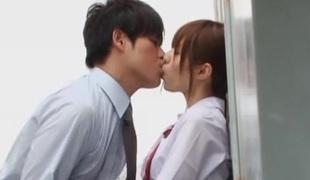 Rina Rukawa naughty Japanese legal age teenager in hot threesome