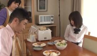 Lovely Japanese schoolgirl Koharu Aoi screwed doggystyle