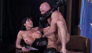 Breasty Eva Karera and Johnny Sins screwing hard