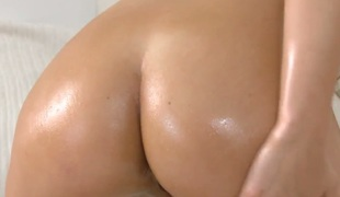Unlighted with tiny tities and trimmed cunt is at stud take solo action