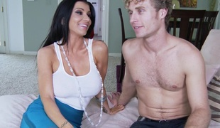 Sinful porn hot unshaded Romi Rain receives fucked hardcore doggystyle
