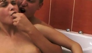 Horny Teen Fucks Coupled with Sucks Aphoristic Flannel After School
