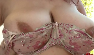 Redhead Joanna Bliss wide smooth cum-hole kills time rubbing say no to love chink