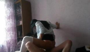 Dark brown teen cheating on her boyfriend