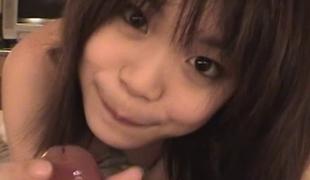 Teen Japanese slut gangbanged in her hairy vagina