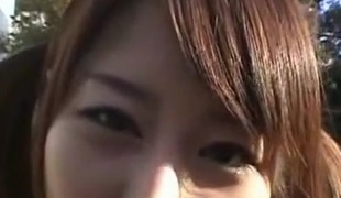 Japanese chick gangbanged in a public bus