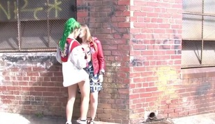 Girls Out West - Hot lesbo sex in public