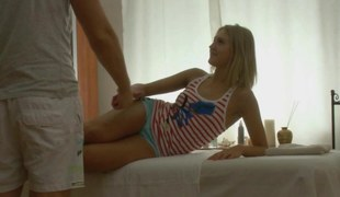 Amazing blond teen massaged with a unearth as an alternative of hands