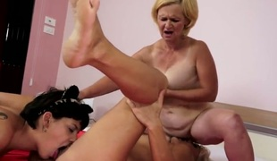 Blonde and Brabra strips previous to to they caress every other