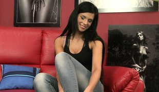 Amazing casting scene with talented unspecific Alicia that has really nice pair