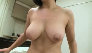 Tomoko sucks his cock and gives him a titty fuck, dovetail rides him