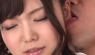 Fantastic Japanese whore Megumi Shino in Hottest JAV uncensored Threesomes clip