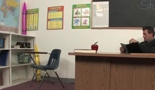 Hot Student Seduces Teacher Makes Grade