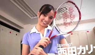 Exotic Japanese whore Karina Nishida in Most good changing room, college JAV movie