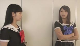 Fabulous Japanese angel Miki Sunohara, Maya Kawamura, Rei Mizuna in Amazing college, group sex JAV video
