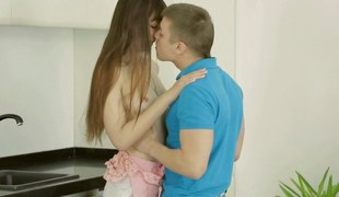 Sexy dilettante teen sucking Russian dick like quickening was her crowning blow