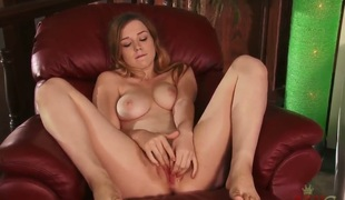 Alaina Fox has rub-down the most remarkable tits and cute little trotters painless this babe masturbates, shes clearly horny in the air this video after rub-down the parents had gone to work.