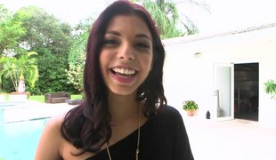 Gina Valentina pulls her fingertips almost with an increment of acquires plowed profound