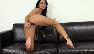 Ava Addams loves treating her coition paraphernalia just like a cock and copulates them hard