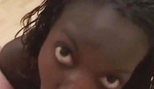 Bush-league dark teen gets her sweet face creamed