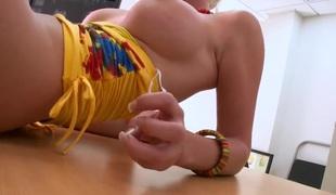 Blond Britannie Lane came to a porno casting