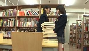 Kaon Tachibana & Tsugumi Mutou in Library Lesbos - JapansTiniest