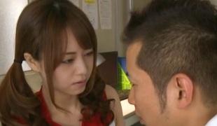 Akiho Yoshizawa Oriental cheerleader enjoys a hard fucking