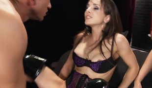 Leya Falcon and cytherea in a wild three-some
