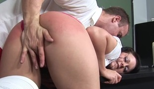 Outcast experienced teacher showing a cute schoolgirl real lovemaking
