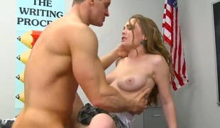 Exotic Monica Rise lets man put his have a crush on wand in her facet cleft